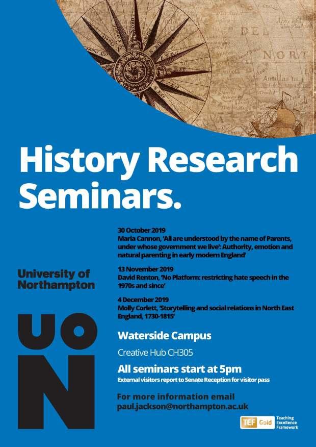 History Research Seminars Autumn 2019