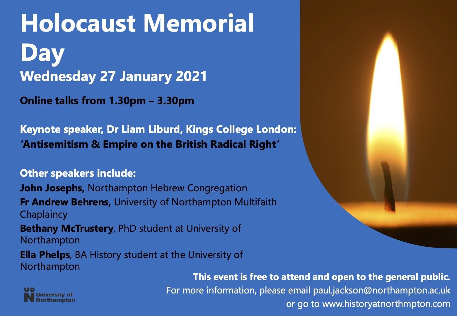 Holocaust Memorial Day 27 January 2021